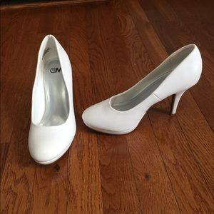 Shoes - White heels